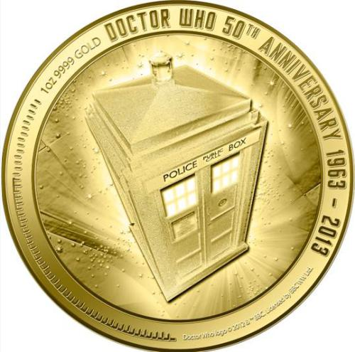 Following on from its silver predecessor, a gold one-ounce coin has been struck by New Zealand Mint to continue the celebration of the 50th anniversary of the longest-running sci-fi television series <I>Doctor Who</I>.