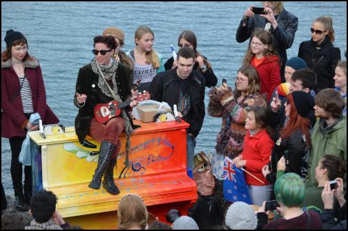 Amanda Palmer ninja parade, Wellington