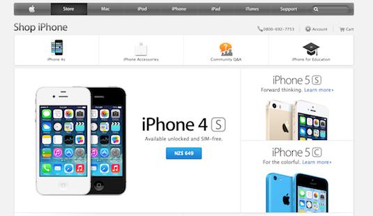 Iphone 5s new zealand