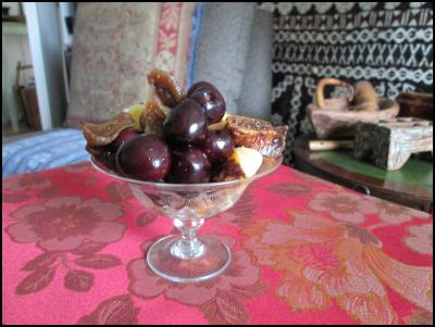 Summer Fruit Salad with Cherries, Figs and Cointreau