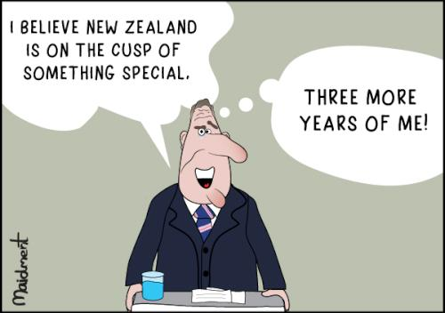 John Key: I believe New Zealand is on the cusp of something special – Three more years of me!