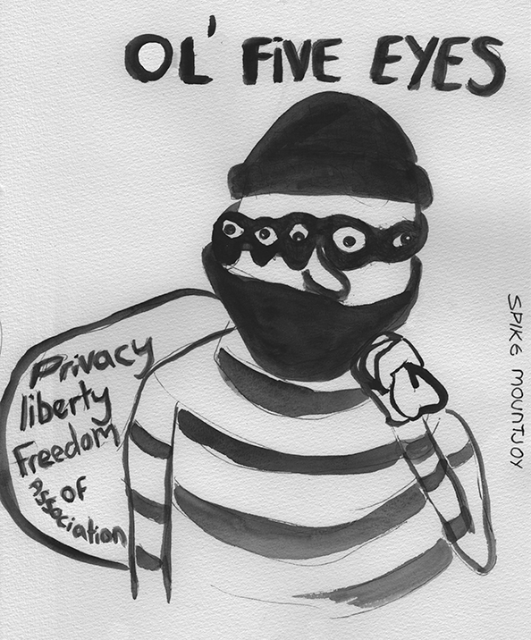 ole five eyes, stealing your privacy and freedom