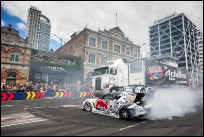 red bull drift shifters transform the streets of auckland