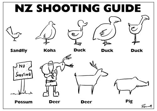 NZ Shooting Guide – response to hunters working for DOC killing takahe instead of pukeko (and other hunting issues)