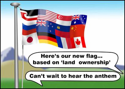 Here's our new flag… based on land ownership.