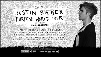Justin bieber world tour dates in Sydney