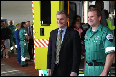 Bill English, Wellington Free Ambulance