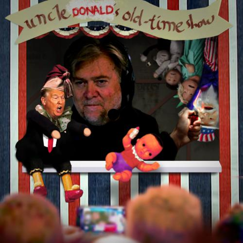 Donald Trump, Steve Bannon, Punch and Judy, puppet