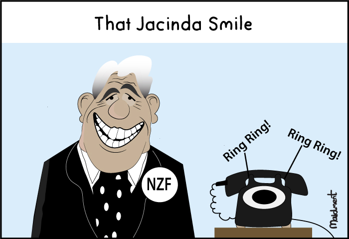 2017 NZ Election – Winston Peters is grinning