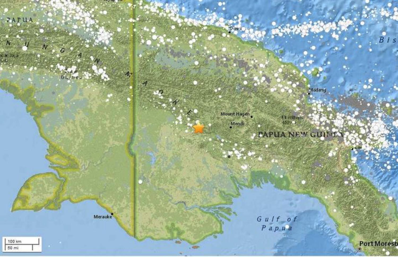 7.5 magnitude earthquake strikes Papua New Guinea