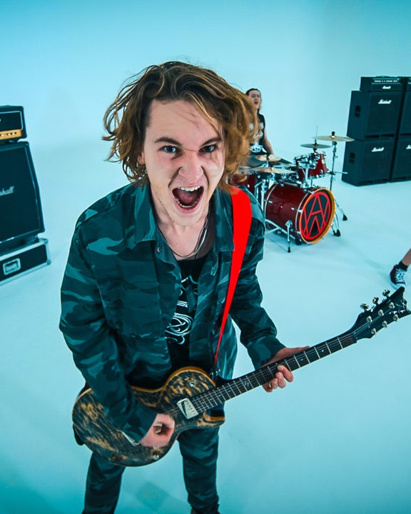 Still from Alien Weaponry's video for Whispers