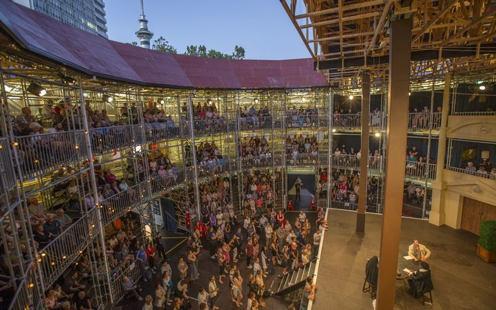 Inside the Pop-up Globe in Auckland. Photo: Supplied