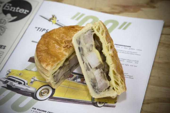 The winning pie: Roast Pork and Creamy Mushroom
