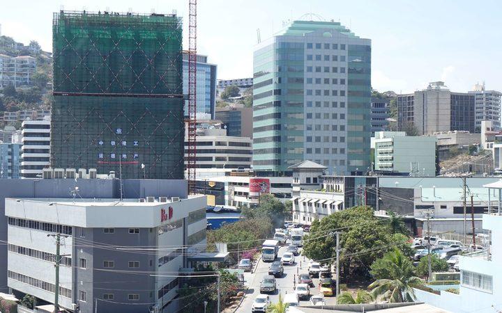 Port Moresby CBD. Photo: RNZ Pacific / Johnny Blades