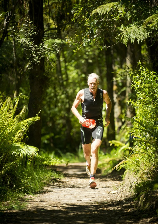 John Hellemans running in Rotorua. Credit: David Beeche.