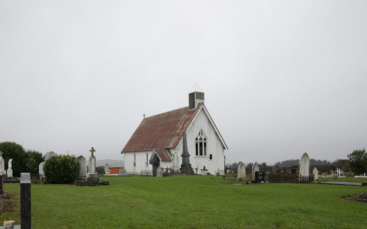 Ohaeawai Pa, St Michael's church was built on the pa site in 1871 Photo: RNZ/Dan Cook