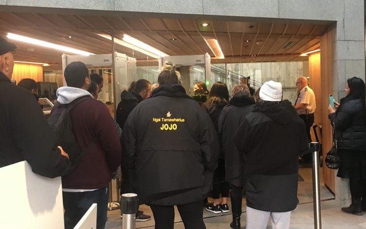 Tauranga Moana iwi members were refused access to Parliament Photo: RNZ / Te Aniwa Hurihanganui