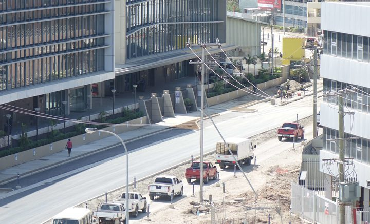 Road construction continues apace in PNG's capital ahead of November's APEC summit. Photo: RNZ Pacific / Johnny Blades