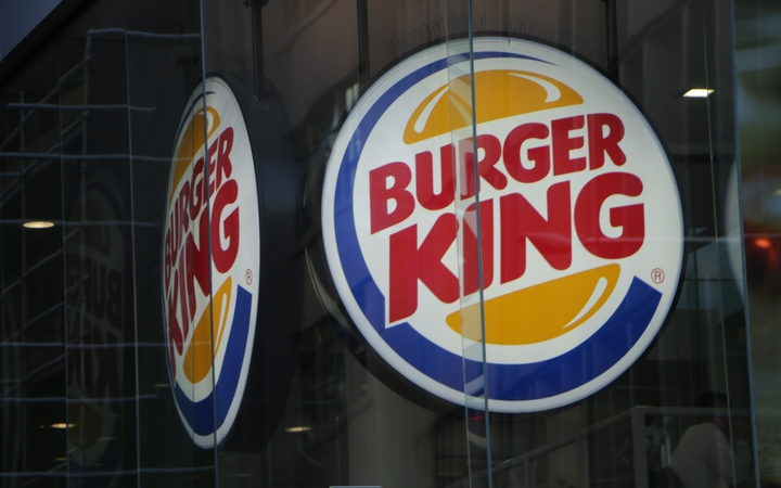 Burger King signage. Photo: RNZ / Calvin Samuel