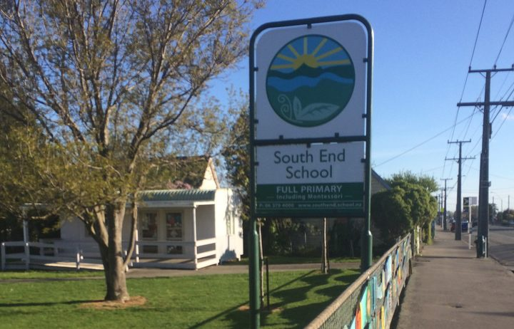 South End School. Photo: RNZ / Catherine Hutton