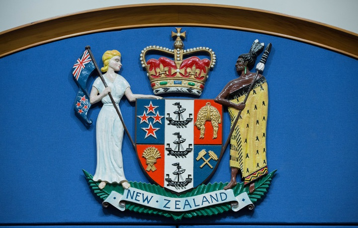 NZ coat of arms, NZ Government