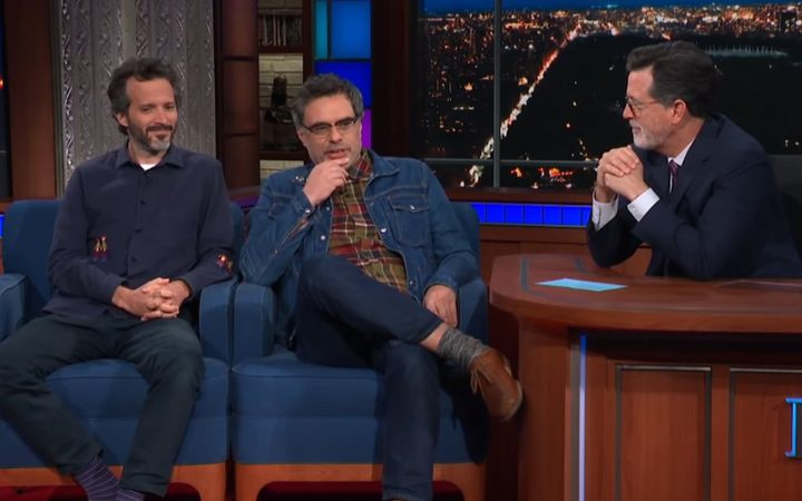 Bret McKenzie and Jemaine Clement on The Late Show with Stephen Colbert Photo: Screengrab / YouTube / The Late Show