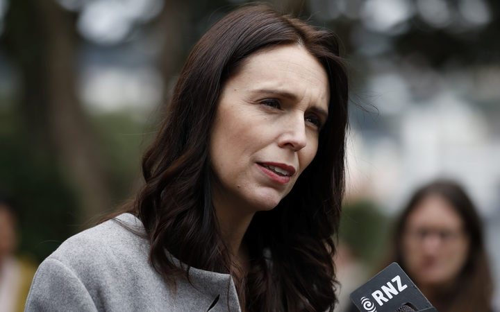 Prime MInister Jacinda Ardern at Wellington High School today. Photo: RNZ/ Richard Tindiller