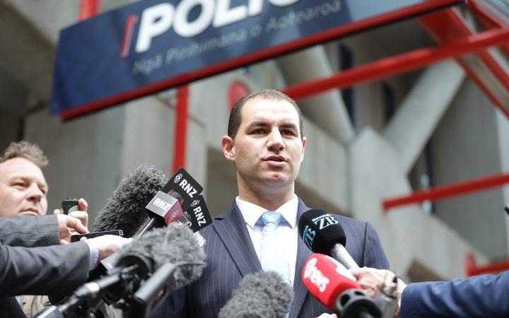 Jami-Lee Ross speaks to media after filing a complaint against National leader Simon Bridges. Photo: RNZ / Rebekah Parsons-King