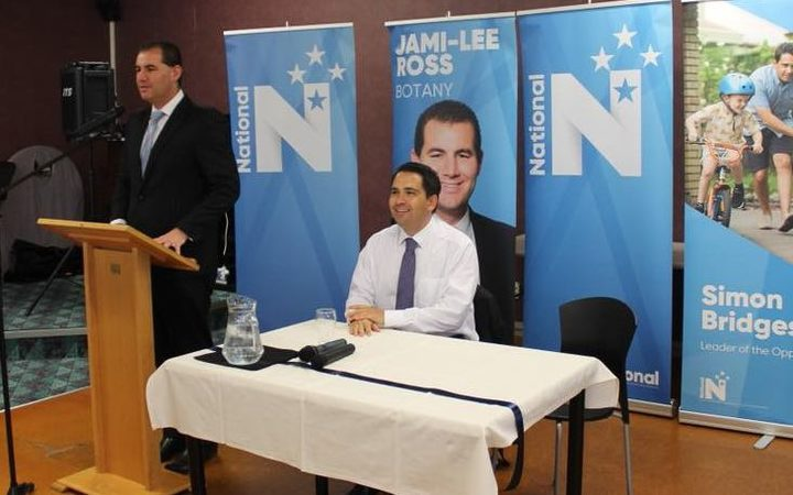 Jami-Lee Ross and Simon Bridges before their political falling-out. Photo: Facebook / Jami-Lee Ross