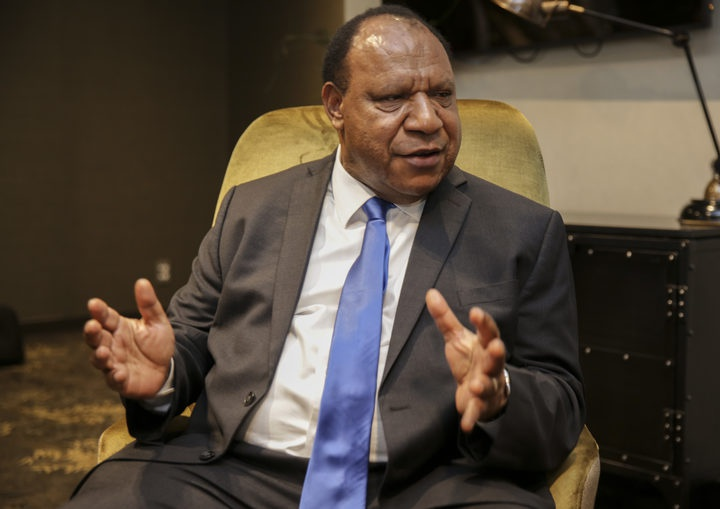 PNG Minister for Foreign Affairs and Immigration, Rimbink Pato Photo: RNZ / Richard Tindiller