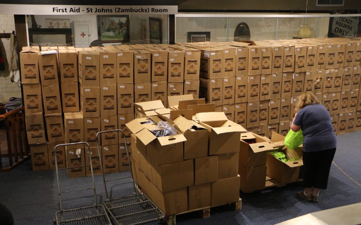 rows of large