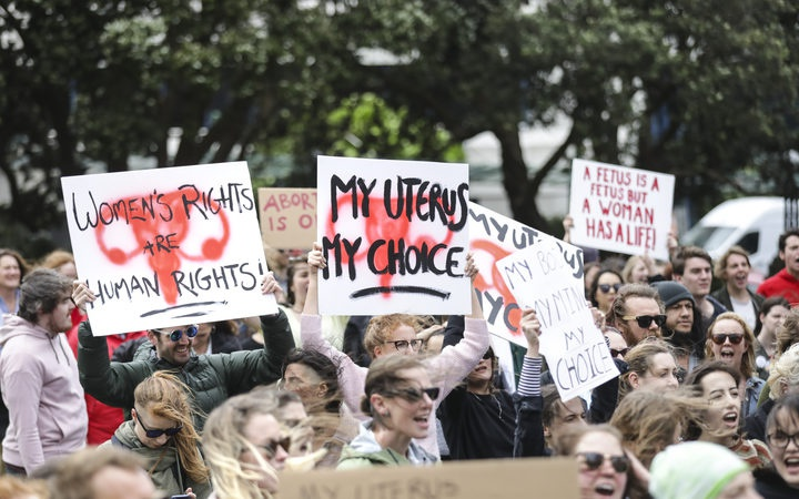protesters at