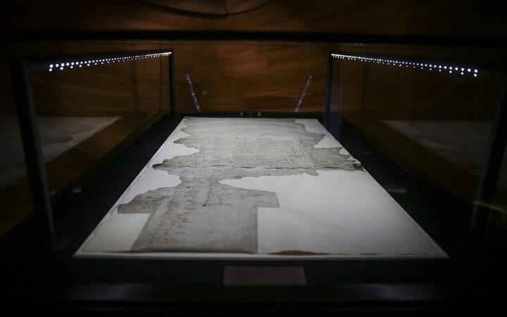 The Treaty of Waitangi on display
