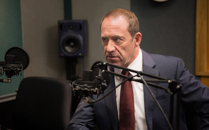 Andrew Little in the RNZ studio