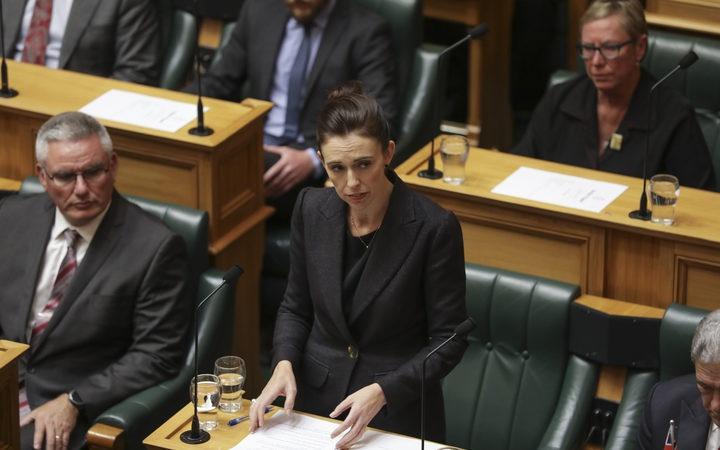 Jacinda Ardern in Parliament