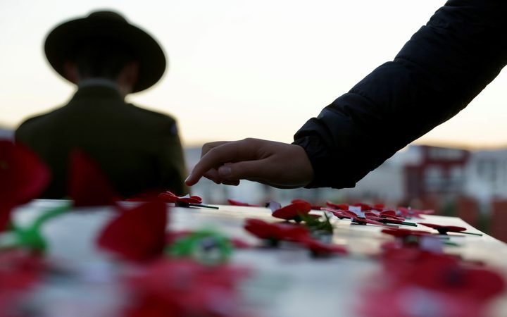 a hand over ANZAC