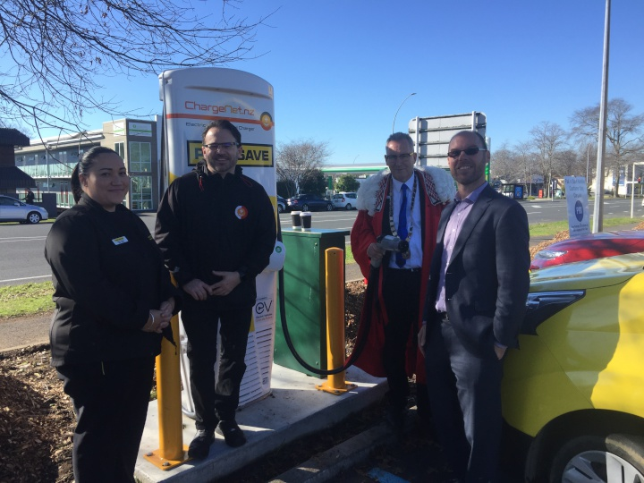 Business Scoop » PAK'nSAVE Mill Street Hamilton EV charger
