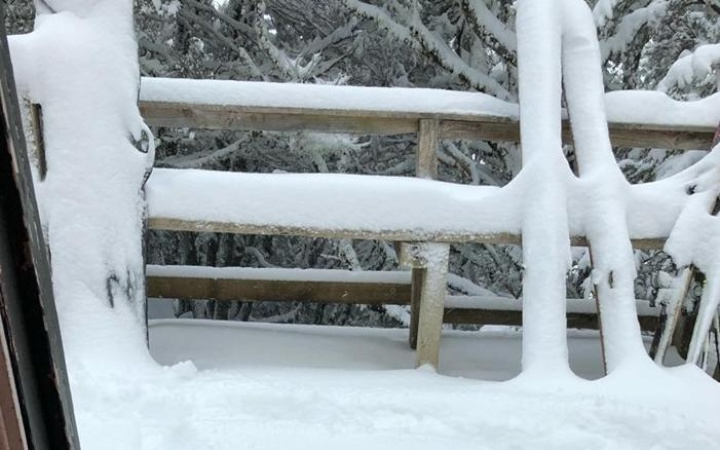 snow piling up in a