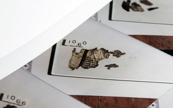 scortched newspaper
