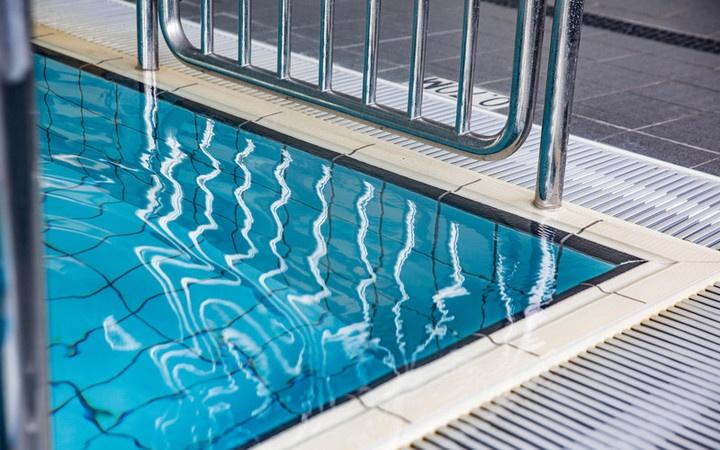 a corner of a swimming pool