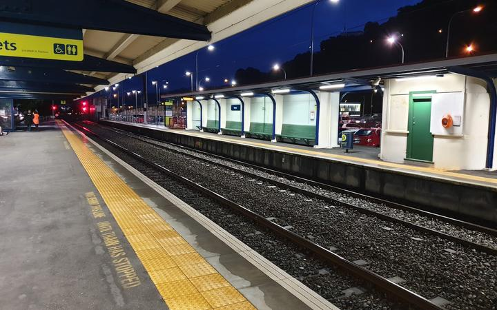 the platforms at petone station, with no trains