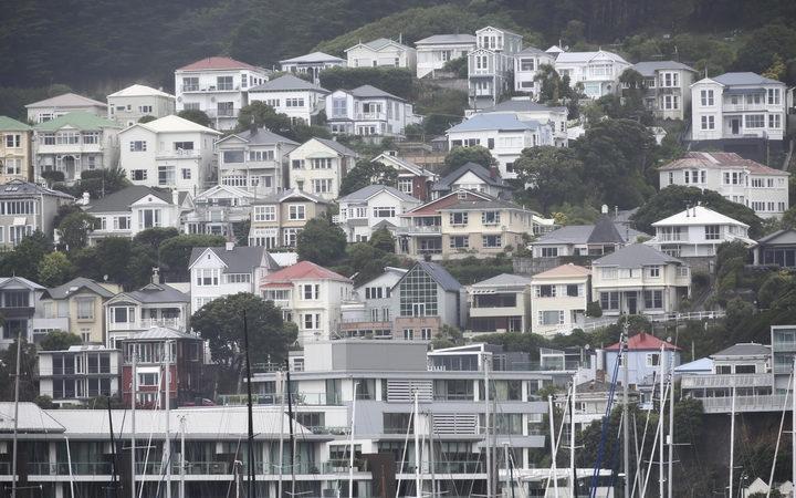 Buildings on Mt Victoria, Wellington