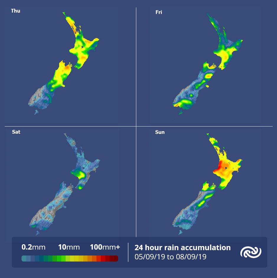24 hour rain accumulation maps