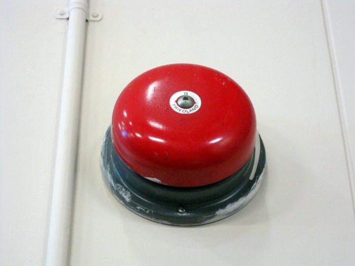 a fire alarm bell