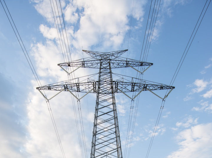 an electric transmission tower